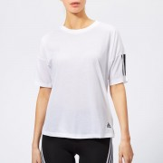 adidas Women's Must Haves 3 Stripes Short Sleeve T-Shirt - White - S - White