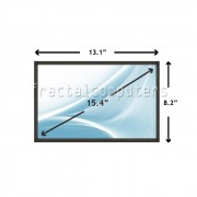 Display Laptop Dell LATITUDE D531 15.4 inch 1440x900 WXGA+ CCFL - 1 BULB