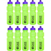 SAS 750ml Water Bottles for Yoga Gyming Fitness Cycling - Green color Set of 10 Keeps water safe and fresh for long