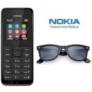 Nokia 105 / Good Condition/ Certified Refurbished ( 1 Year Warranty) with wayfarar Glares