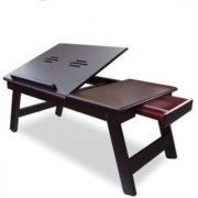 IBS Victor Soolid Wood Portable Laptop Table (Finish Color - walnut brown)