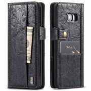 Samsung Galaxy S8+ Saii Retro Multi-Slot Wallet Case - Black