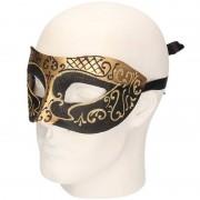 Geen Venetiaans barok oogmasker goud zwart
