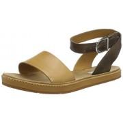 Clarks Women's Romantic Moon Brown Leather Fashion Sandals - 7 UK/India (41 EU)