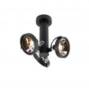 QAZQA Designfläckjusterbar 3-ljus inkl. G9 svart - går