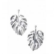 Leaf Earrings Jewelry - Metallic