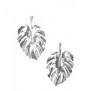 Leaf Earrings Jewelry - Metallic