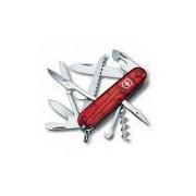 Canivete Suíço Huntsman Victorinox Vermelho Translúcido 15 funções Original 1.3713.T