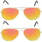 Aligatorr Combo Of 2 Aviator Unisex Sunglasses gyl comboCRLK