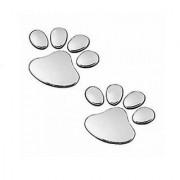Soonai Foot Mark Silver Car Sticker Lucky Charm Free Shipping