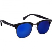 Laurels Club II Men Blue Color Wayfarer Sunglass (LS-CLB-II-031802)
