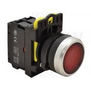 Comutator cu semn. luminoasa,rosu NYK3-LR 1×NC, 5A/230V AC-15, IP65, LED 230V AC/DC