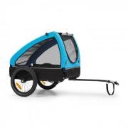 KLARFIT Husky, ремарке за колело за кучета, 250L, 600D, оксфордно платно, синьо (BCT1-Husky-BLU)