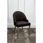My-Furniture KARISS Nera - Sedia da pranzo imbottita con gambe in legno