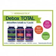 Chlorella 60 cps + Zeolit 60 cps + Detox Activ 60 cps, Herbagetica