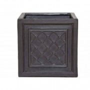 The Pot Co Clayfibre Windsor Square Planter Available in 5 Sizes