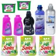 Pachet - 3 x Savex automat 2in1 Fresh Detergent pentru rufe 2kg + 2 x Vanish Oxi action Universal 1L + 2 x Ariel 3 in 1 capsule