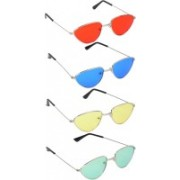 Mango People Oval Sunglasses(Red, Blue, Yellow, Green)