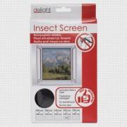 Szúnyogháló ablakra, fekete - 150x150 cm