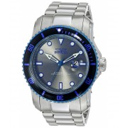 Invicta Watches Invicta Men's 15077 Pro Diver Analog Display Japanese Quartz Silver Watch GreySilver