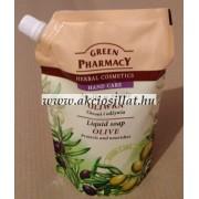 Green Pharmacy folyékony szappan utántöltő olíva kivonattal 465ml