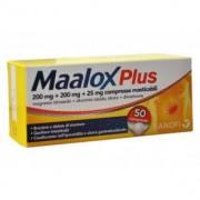 Sanofi Spa Maalox Plus Plus 200 Mg + 200 Mg + 25 Mg Compresse Masticabili 50 Compresse