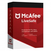 McAfee LiveSafe 2015 - Apple iOS, Android, PC, Mac - Nederlands