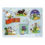 Puzzle cu sunete Cantecele copilariei 2, Melissa and Doug