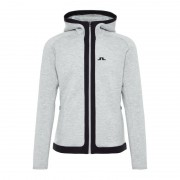 J.Lindeberg Men's Moffit Hoody Tech Sweat Grå