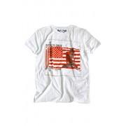 Red White and Crue T-shirt męski AV201MCF (biało-czerwony)