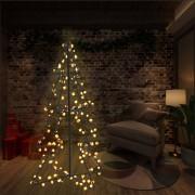 vidaXL Коледна елха конус, 160 LED, закрито и открито, 78x120 см