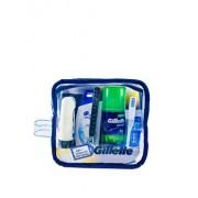 Set cadou 6 piese Gillette Men pentru calatorie (Aparat de ras + Spuma de barbierit, 75 ml + Balsam After Shave, 75 ml + Sampon, 90 ml + Pasta de dinti, 15 ml + Periuta de dinti)