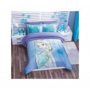Cobertor Borrega Frozen Matrimonial Poliester Azul Concord