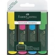 Faber-Castell Confezione 4 Evidenziatori Textliner Colori Assortiti