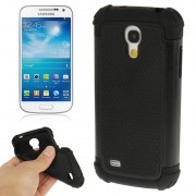 2-color Series Plastic + Silicon Combination Case for Samsung Galaxy S IV mini / i9190(Black)