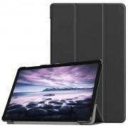HAT PRINCE Tri-fold PU Leather Auto-wake/Sleep Stand Smart Case for Samsung Galaxy Tab A 10.5 (2018) T590 T595 - Black