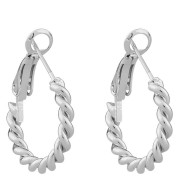 Snö Of Sweden Way Small Ring Earring, Plain Silver