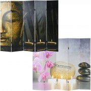 Foto-Paravent Buddha, Paravent Raumteiler Trennwand ~ Variantenangebot
