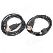 USB a Micro USB Cable de carga de datos para Samsung / HTC / Blackberry - Negro (2 PCS)