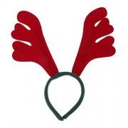 Rrimin Christmas Hairpin Headband Headdress Tiara Cute Christmas Red Elk Design Deer Style Horn Hairband