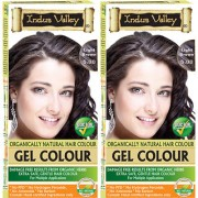 Indus Valley Organically Natural Gel Light Brown 5.0 Hair Color- Twin Set