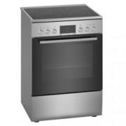Готварска печка Bosch HKR39C250, клас А, 4 нагревателни зони, 66 л. обем на фурната, EcoClean покритие, LED-Display, 7 начина на нагряване, инокс