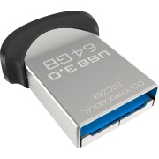 SanDisk Ultra Fit USB 3.0 Flash Drive 64GB, read speed: up to 150 MB/s