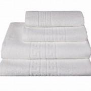 30x50 cm / 120 toallas blancas hosteleras 100% algodón rizo americano (Duck - caja 30x50 cm)