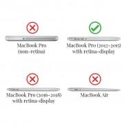 Hardcase hoes - MacBook Pro Retina 13 inch (2012-2015) - marmer goud