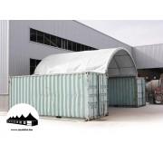 Konténer fedés 8x6m - 720g/m2 PVC / Tűzálló / Fehér
