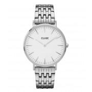 CLUSE Horloges La Boheme Multi Link Silver Colored White Zilverkleurig
