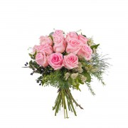 Interflora 12 Rosas Cor-de-Rosa de Pé Curto Interflora