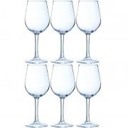 Merkloos 6x Luxe wijnglazen voor witte wijn 270 ml