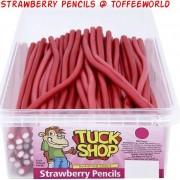 Tuck Shop Strawberry Pencils Fruit Liquorice Candy Retro Sweets